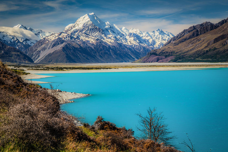 Peters lookout in Mount Cook National Park. Top scenic drives in New Zealand