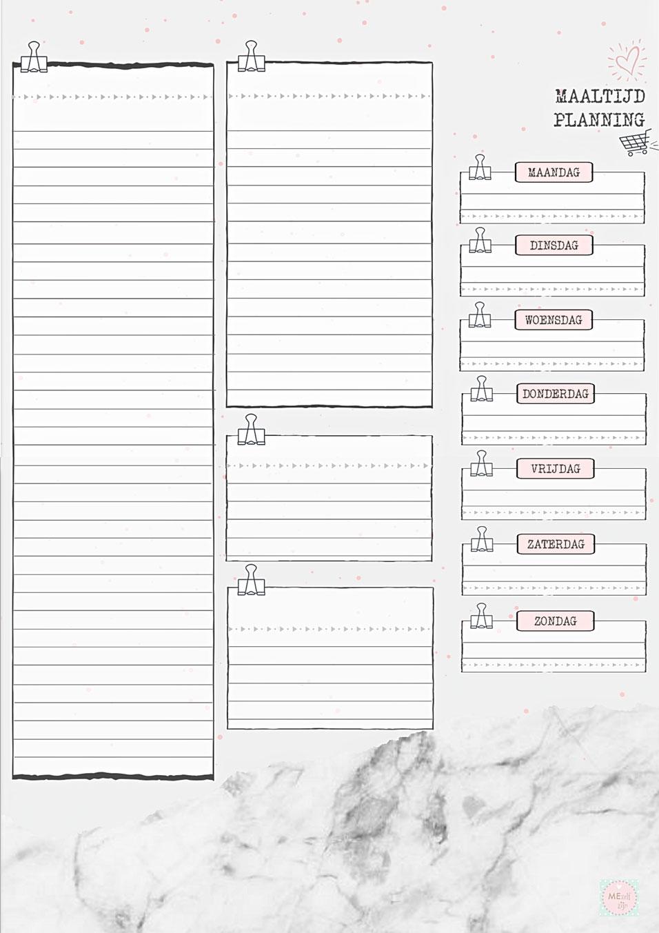 gratis stencil menu plan - free template menu plan - weekmenu gratis stencil - weekmenu printable , free printable meal planning - free template budget planner nederlands - free template nederlands - free printable nederlands