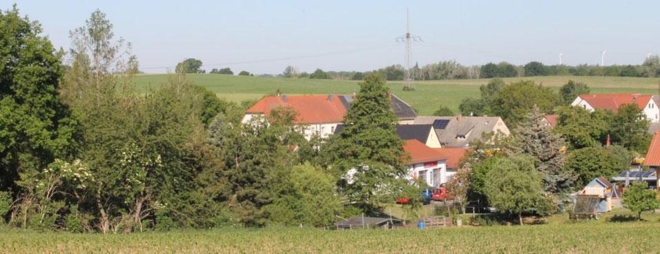 Görna mit ehemaligem Gutshaus der Familie Sommer, Foto: E.v.W., 2020