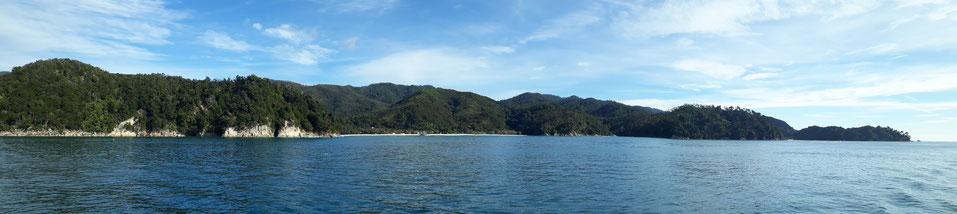 Die Küste des Abel Tasman Nationalparks