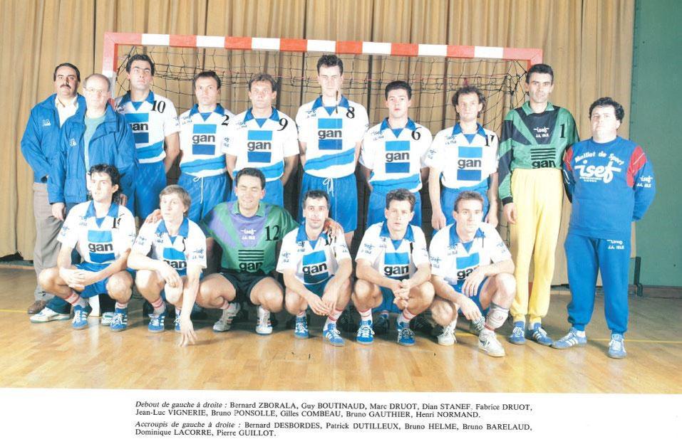 Equipe Nationale 3 de 1988 de la JA Isle Handball