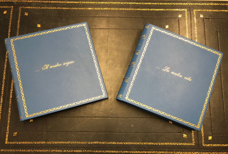 Customized leather photo album by Conti Borbone