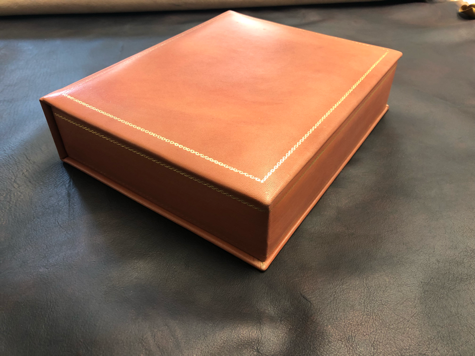 Customized leather box for present by Conti Borbone