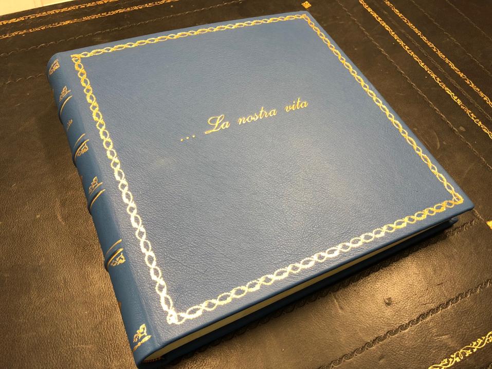 Customized Leather Photo Album Conti Borbone Bookbinder