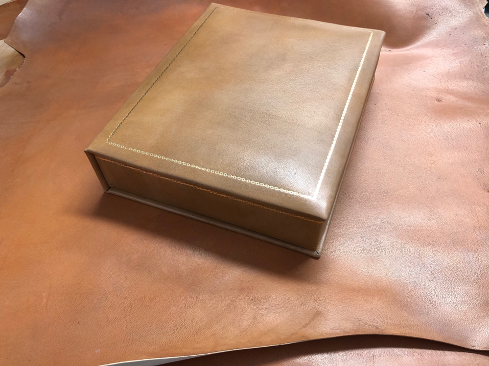 Conti Borbone leather box for present