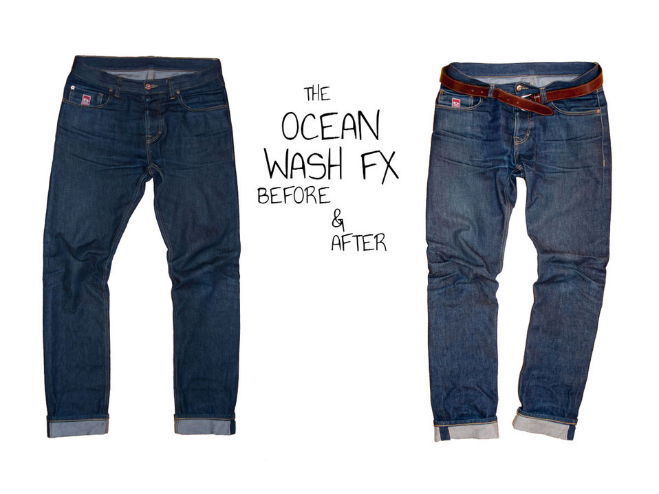 DSIDE PRODUCTS RAW SELVAGE DENIM OCEAN WASH DRY JEANS