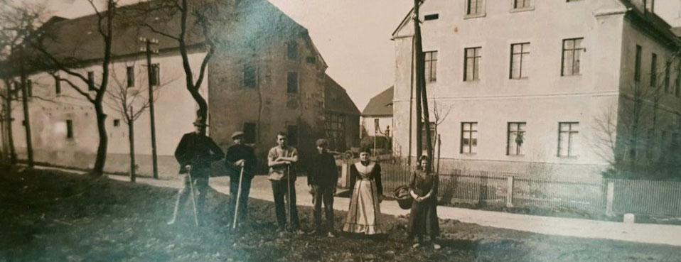 Sommersches Gut in Görna: Demeter-Betrieb in den 1930er Jahren, Foto: Nachlass Familie Sommer
