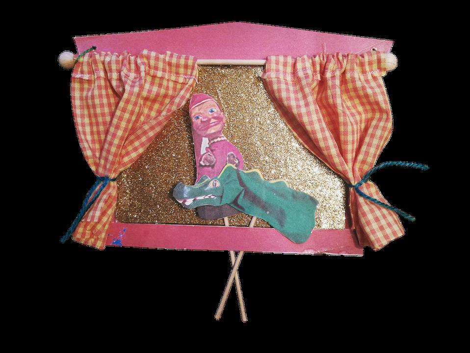 Geburtstag, Kindergeburtstag, ene meine miste es rappelt in der Kiste, Geburtstagstisch, Deko, Handpuppen, Kasperlepuppen, aktive Karte selbst machen