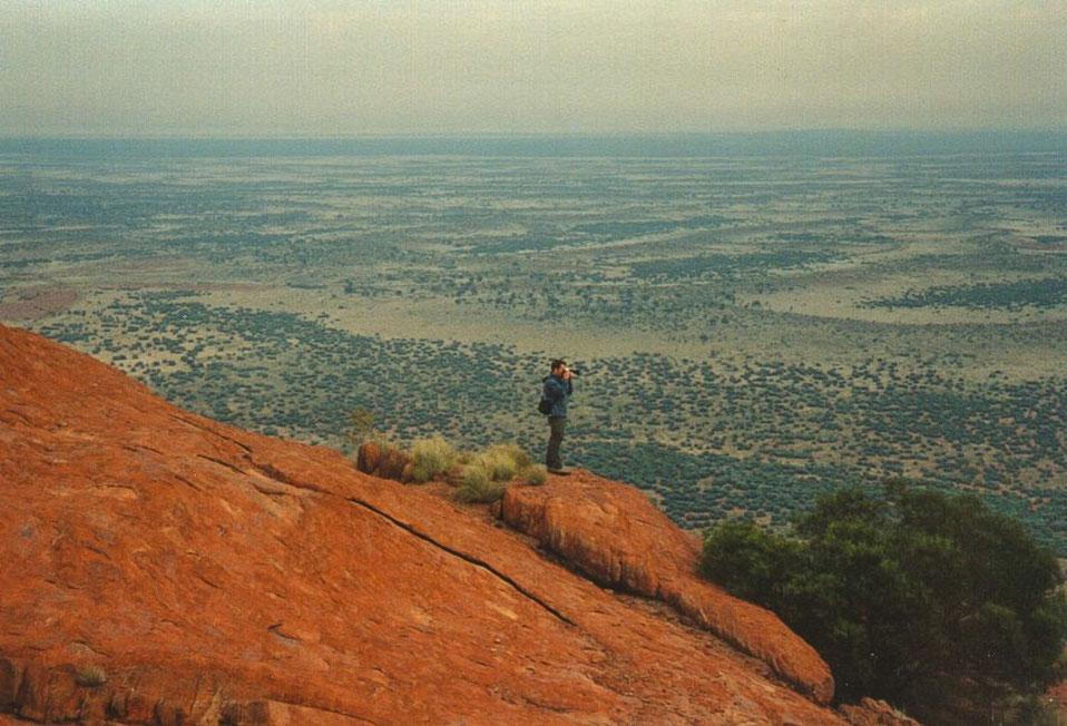 Jens Assmann on Uluru, Australia; Ayers Rock