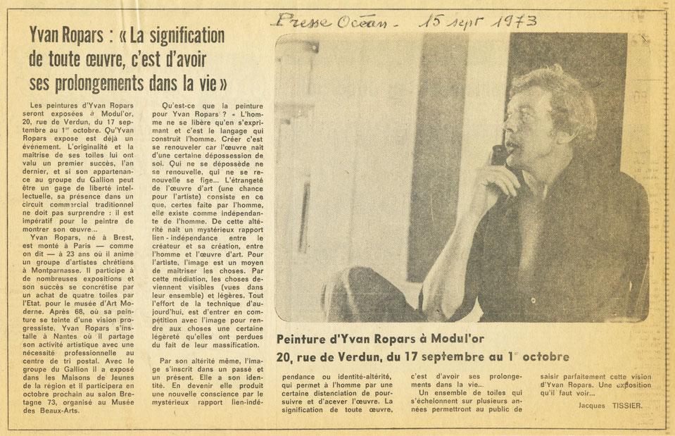 Presse Océan 15 septembre 1973