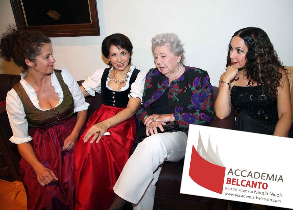 Angelika Kirchschlager, Natela Nicoli, Christa Ludwig und Eteri Lamoris