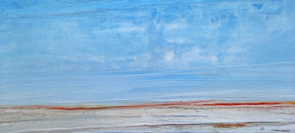Bild Landschaft hellblau pastell