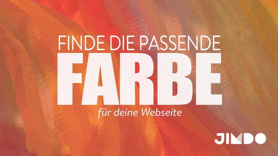 Jimdo Webinar Passende Farbe Webseite finden