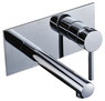 Pin lever Bath/Basin Mixer with wall plate and spout
