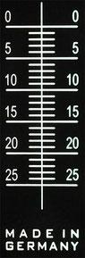 gravierte Skala des pocketPANO VARIO Nodalpunktadapters