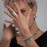 Bracelet macramé fait main avec perles d'argent  N° 44