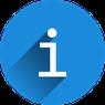 Info-Button. weißes i in blauem Kreis