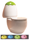 Egg Junior Close Coupled Toilet Suite, WELS 4 star rating, 4.5/3L