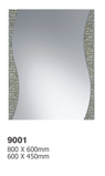 9001 Double Layer Silver Edge Mirror - 600x450mm, 800x600mm