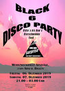 Flyer Black 6 Disco Party 2019 MZH Arnisäge