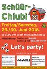Samstag 30. Juni 2018 Schüür Chiubi Wislisau Rüschegg, DJ Aspen, Kai, Party, Bar, Pub, Festival, Disco, Ausgang, Veranstaltung, Event, Bern, Thun, Freiburg, Schwarzenburg, Schweiz, FC Rüschegg