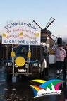 Der TC Weiss Blau im Lichtenbuscher Karnevalszug 2012