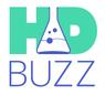 Das Logo der Webseite HDBUZZ für das Forschungsgeschehen zur Huntington-Krankheit / Chorea Huntington