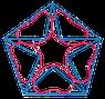 Das Logo von United Nature symbolisiert das Mineralreich, das Pflanzenreich, das Tierreich und das Menschenreich, die zusammen eine Einheit bilden