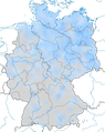 Karte zur Verbreitung des Seidenschwanzes (Bombycilla garrulus) in Deutschland im Winter.