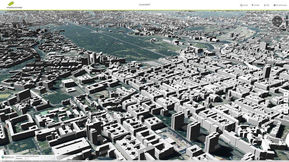 Erleben Sie den Funktionsumfang unserer virtualcityMAP / 3D Webkartenanwendung im Browser