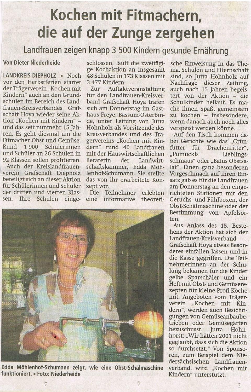 Mit freundlicher Genehmigung der Kreiszeitung vom 20.8.2016