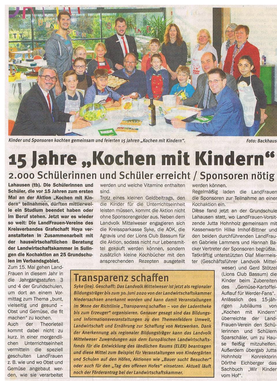 Mit freundlicher Genehmigung des Landvolkverbandes Mittelweser im November 2016