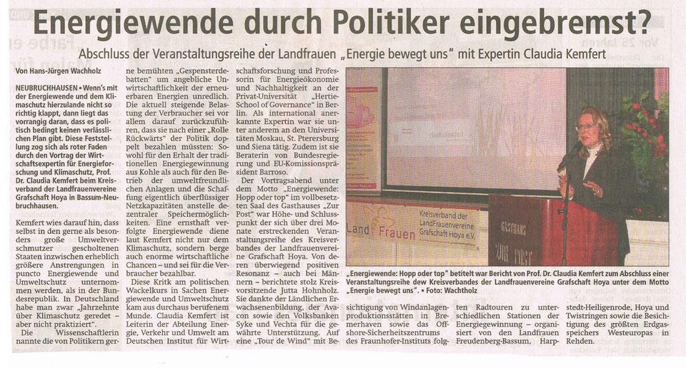 mit freundlicher Genehmigung der Kreiszeitung vom 24.10.2016