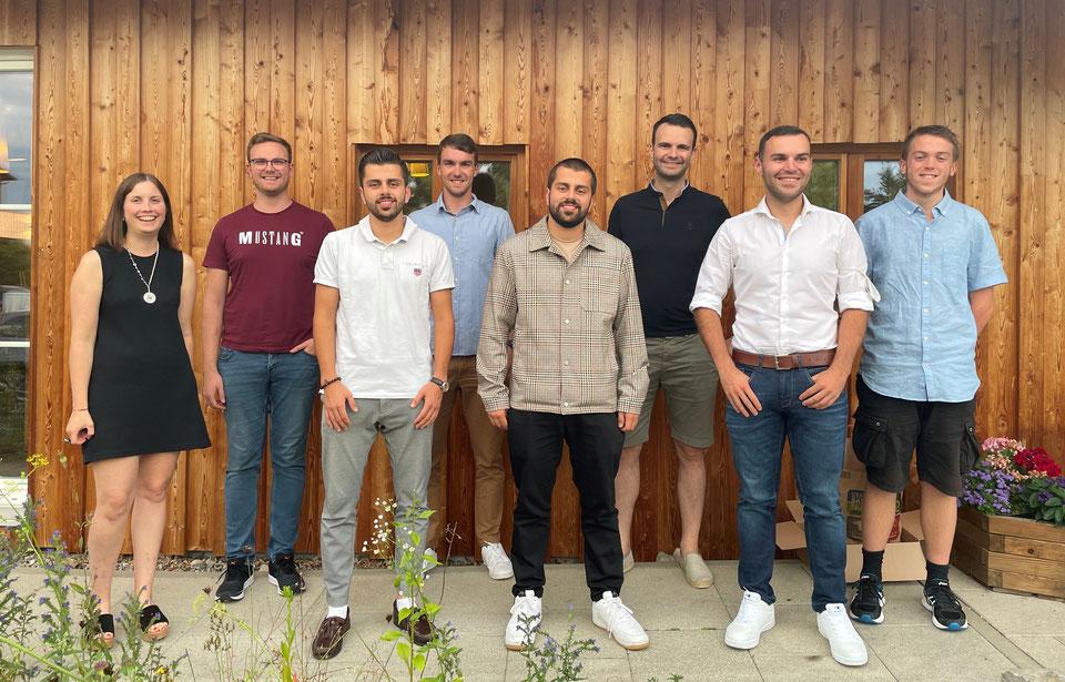 Gruppenbild Junge Union Unterallgäu, Klaus Holetschek, Stephan Stracke