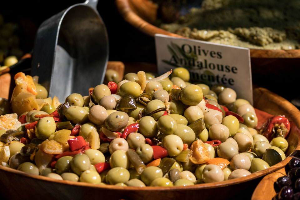 Olives at street market