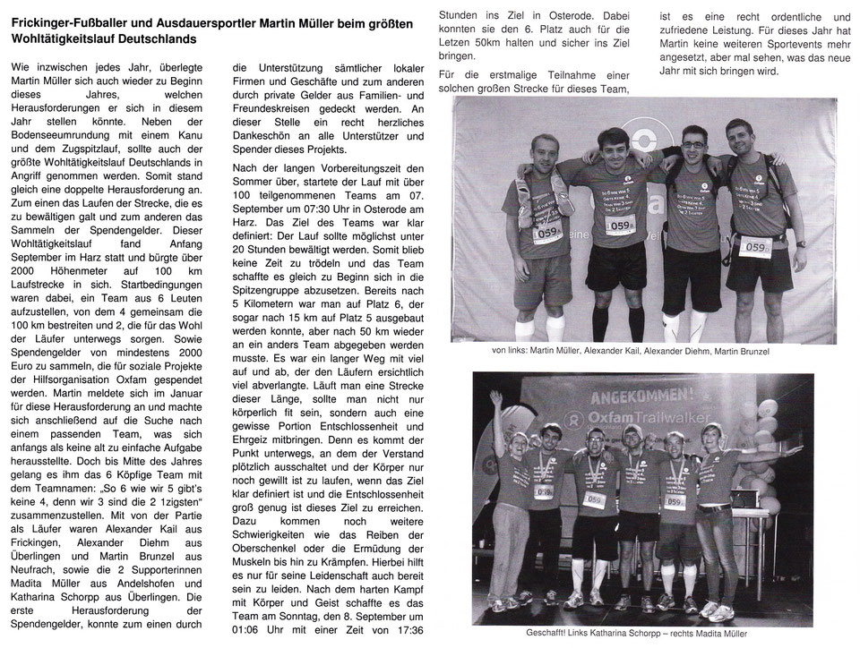 SpVgg FAL Sport Report im November 2013