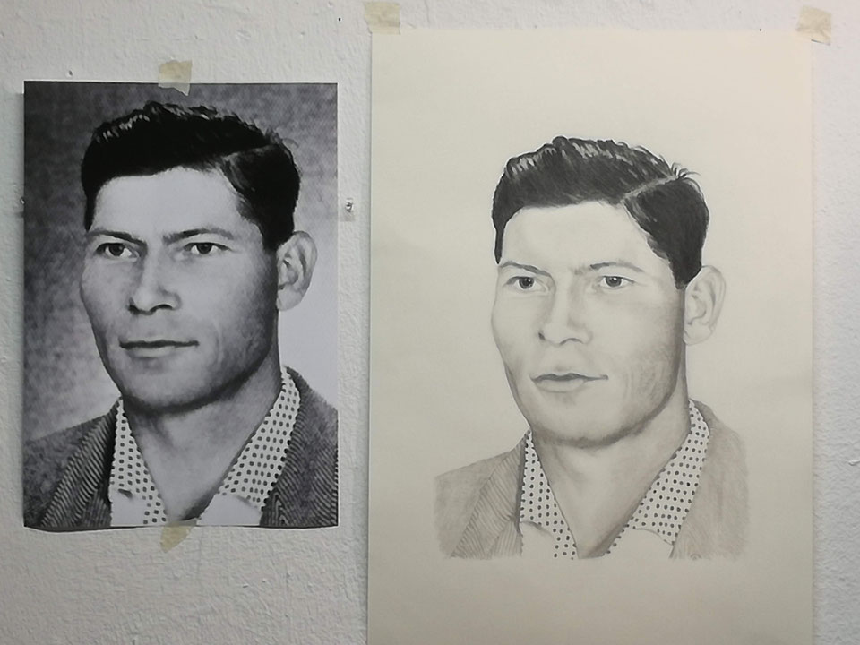 mein Vater, Bleistift auf Clairefontaine Zeichenkarton A3