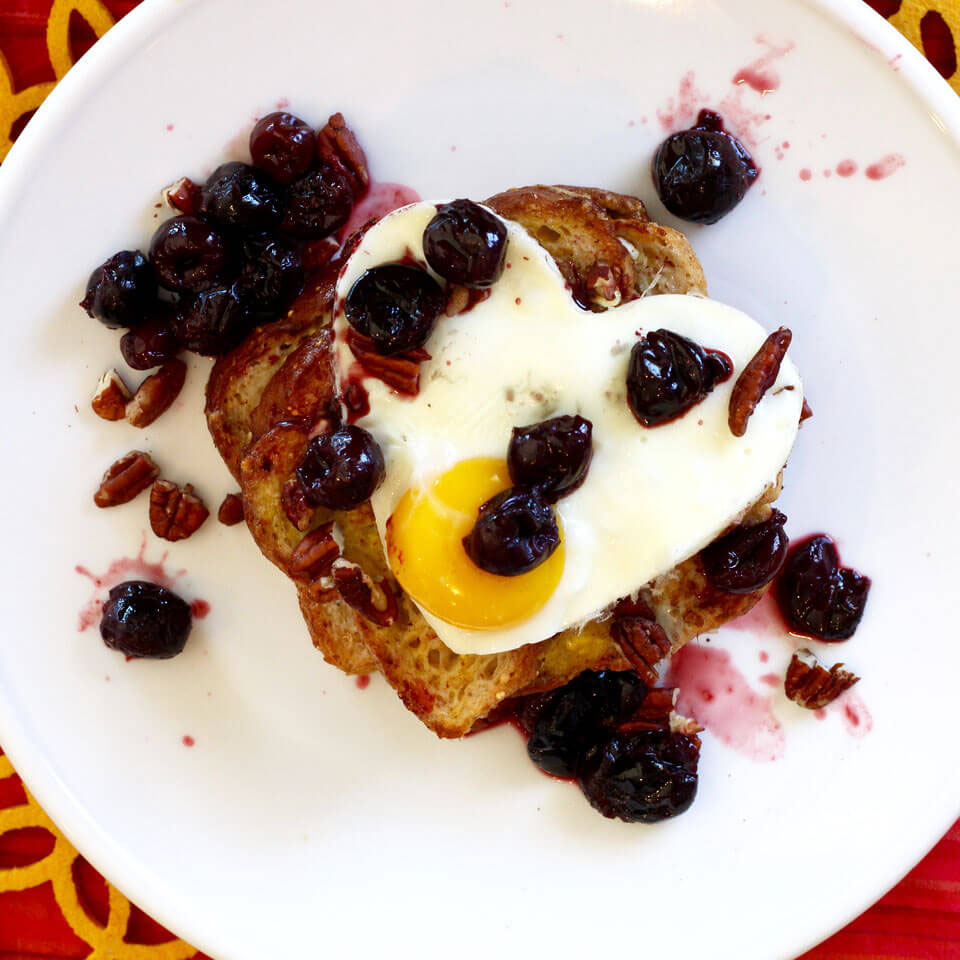 Protein French Toast with Cherries