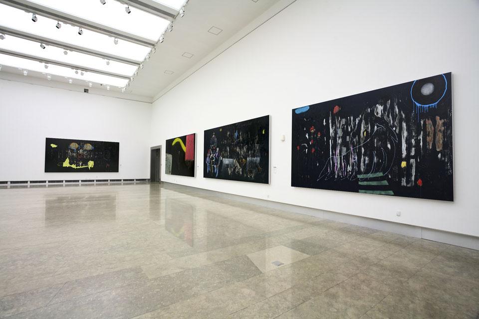 """the darkened paintings"", 2010-2014"