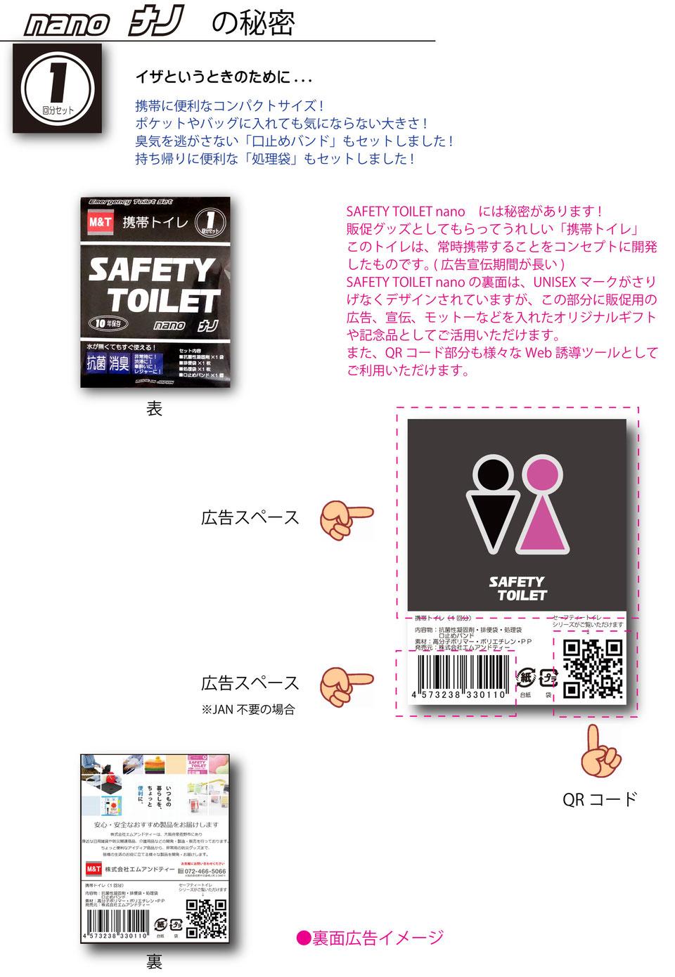 SAFETY TOILET nanoナノの秘密  広告スペース
