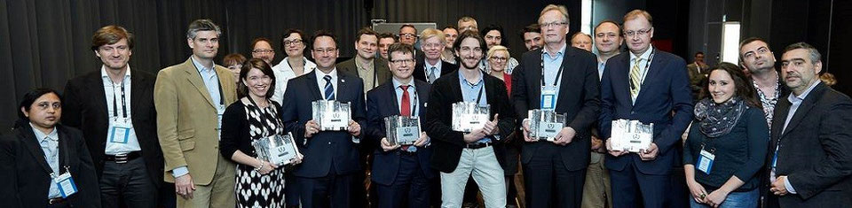 Sponsors, jury, winners and organizers after award disclosure 2014