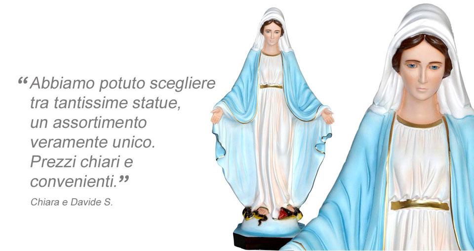 statua Madonna miracolosa cm 85