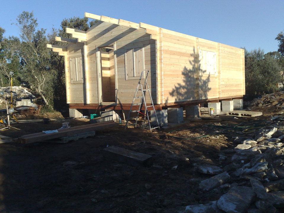 Construction chalet en kit
