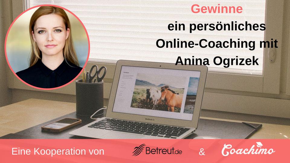 Coachimo und Betreut.de Verlosung Online-Coaching mit Anina Ogrizek