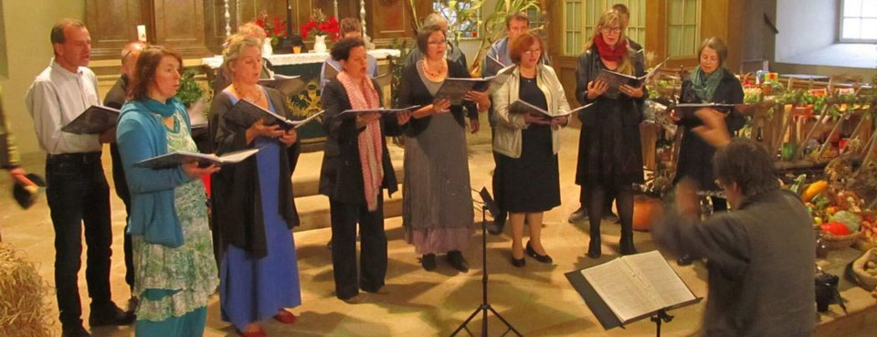 Kammerchor BLAUKLANG, Kirche Jahnishausen 2019