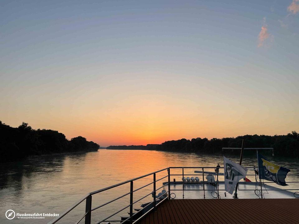 Donau Sonnenuntergang