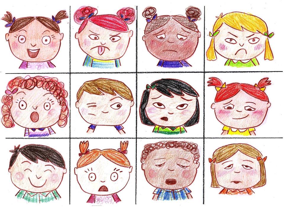 Эмоции человека в картинках для начальной школы