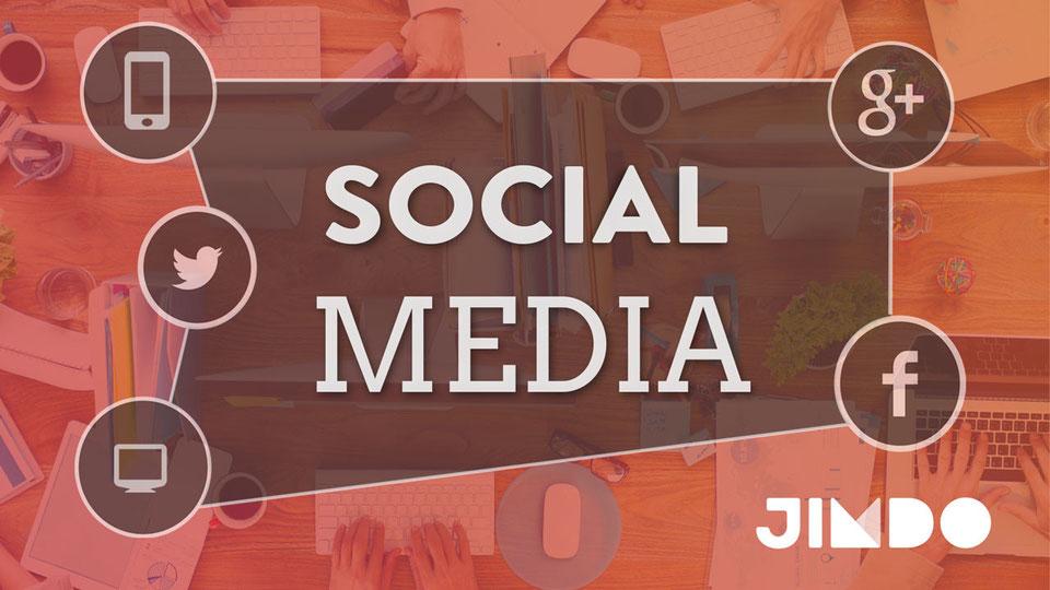 Jimdo Webinar Social Media Webseite