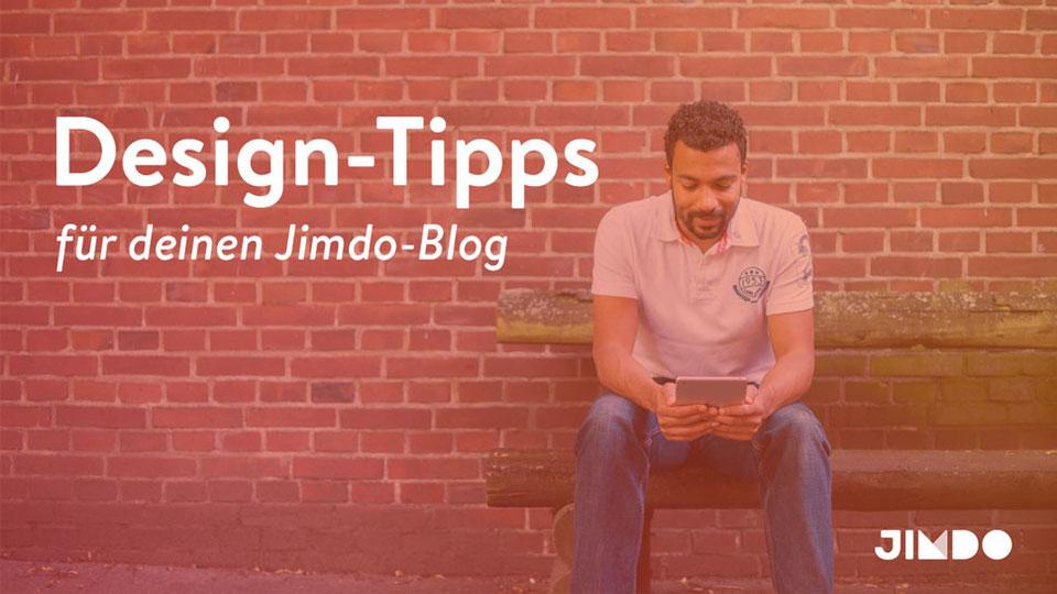 Jimdo Webinar Design Tipps Blog