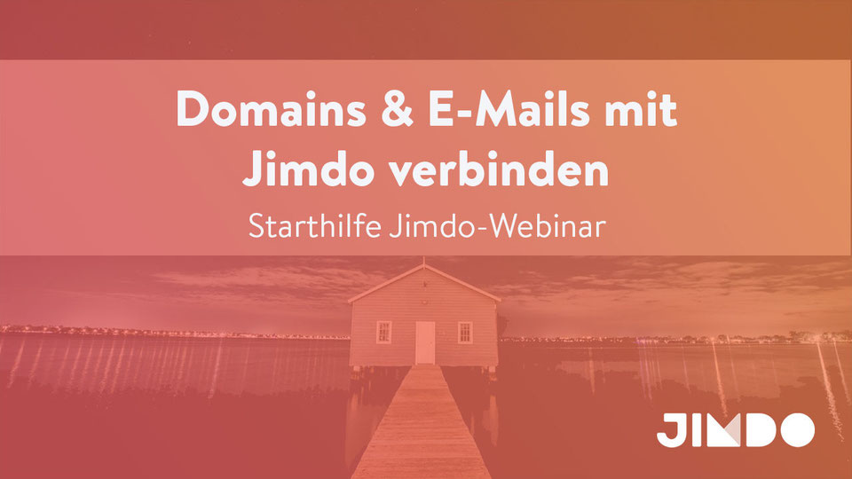 Jimdo Webinar Domains Emails verbinden